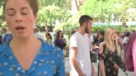 Parents of terminally ill baby Charlie Gard present petition to Great Ormond Street Hospital Connie Yates and Chris Gard PULL OUT reporter to camera...