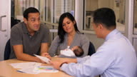 MS Parents with Young Baby Meeting with Financial Planner / Richmond, Virginia, USA