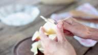 Paring apple