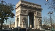 (HD1080i) Paris: Arc de Triomphe Traffic,  Jump-Cuts
