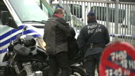 Paris Attack Terror suspect Salah Abdeslam arrested Showing CLEAN Exterior shots police checks outside SaintPierre hospital on March 19 2016 in...