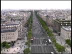 Paris Champs Elysees From Atop Arc de Triomphe.  France