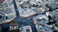 Paris city, France from top view time lapse