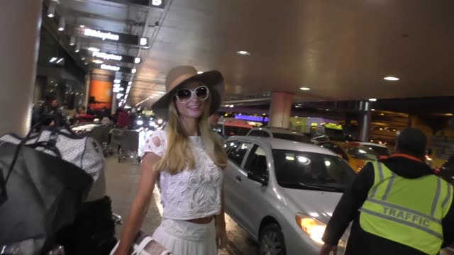 Paris Hilton arrives at LAX Airport in Los Angeles in Celebrity Sightings in Los Angeles