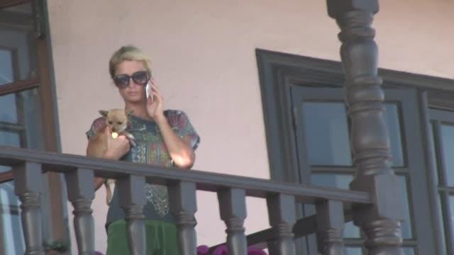 Paris Hilton at Home in Malibu