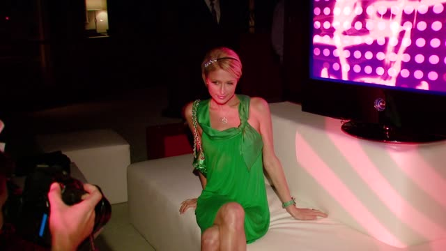 Paris Hilton at the LG Electronics' launch of the Scarlet HD TV series at the Pacific Design Center in West Hollywood California on April 29 2008