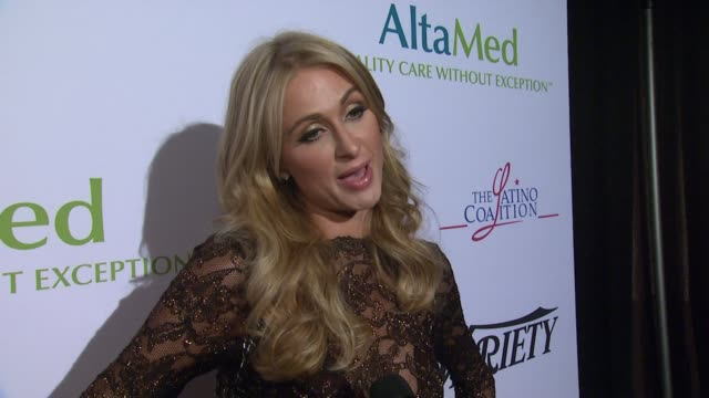 INTERVIEW Paris Hilton on the event at AltaMed Power Up We Are The Future Gala in Los Angeles CA