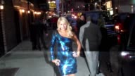 Paris Hilton visits 'Late Show With David Letterman' at the Celebrity Sightings in New York at New York NY