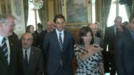 Paris mayor Anne Hidalgo awards nine time Roland Garros champion Rafael Nadal City Halls highest distinction