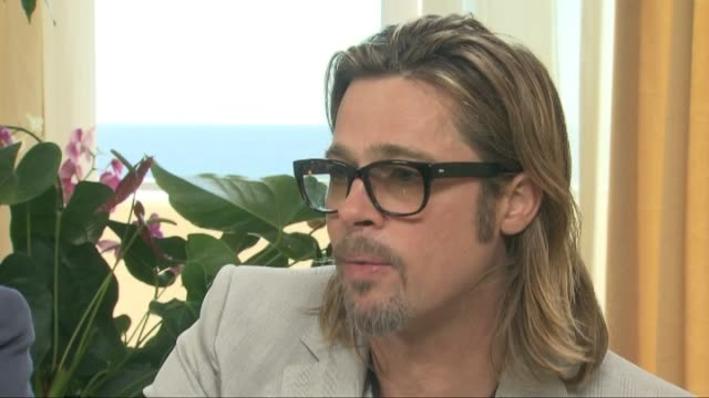 Paris Sept 19 Brad Pitt discusses in Paris his role in 'Killing them softly' a film about hired killers during the mortgage crisis in the United...