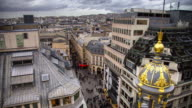Paris Shopping Street on Overcast Day - Time Lapse