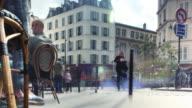 Paris Sidewalk Cafe Couple Cinemagraph 4K