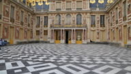 Paris, the main court in the Chateau de Versailles