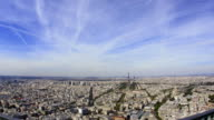 Paris timelapse aerial view 1080HD