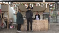 Parisians and tourists visit the Smmmile Vegan Pop Festival in eastern Paris an opportunity to discover a variety of animal free products ranging...