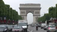 ParisView of Arc of Triumph in Paris France