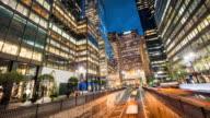Park Avenue Rush Hour at dusk New York City