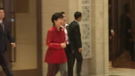 Park Geunhye President of South Korea arrives for a welcome dinner during the Association of Southeast Asian Nations summit the Laotian capital...