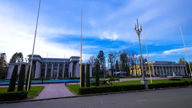 Park with Soviet era architecture