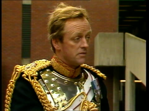 Parker Bowles ENGLAND London Kensington Barracks MS Lt Col Andrew Parker Bowles inspects Household Cavalry MS Ditto CS Ditto PULL OUT CS Parker...