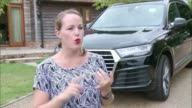 Parking company collapse leaves holidaygoers without cars ENGLAND London EXT Libby Augustin along to car Libby Augustin driving EXT Car along Libby...