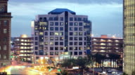 WS T/L Parking structures and office buildings in downtown area / Phoenix, Arizona,