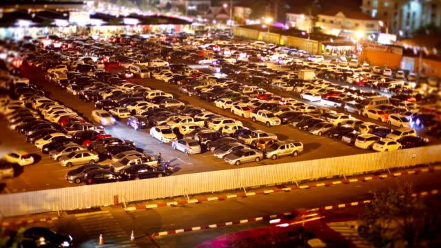 Parking time lapse at night