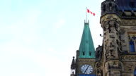 Parliament Building with Canadian Flag