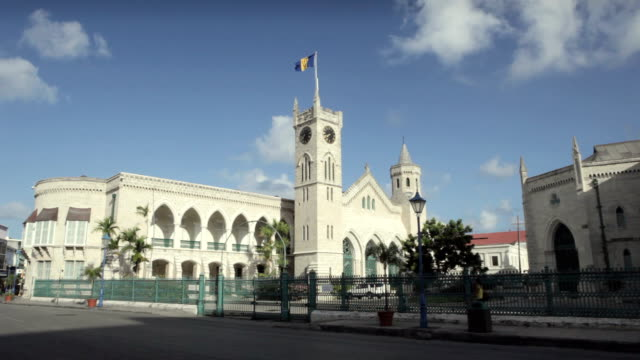WS Parliament building with street in foreground / Bridgetown, St Michael, Barbados