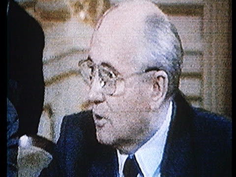 CU Parliamentary democracy Gorbachev dialogues between deputies new constitution / Moscow Russia AUDIO