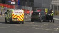 18yearold man arrested in Dover / property raided in Sunbury Kent Dover Police van and police officer at port Police officer along Electronic sign...