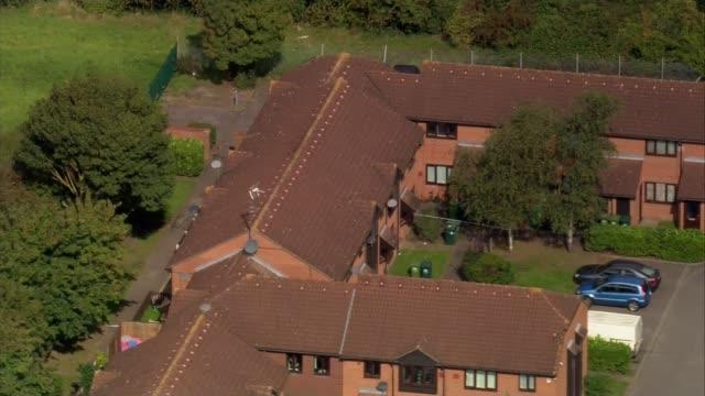 Aerial police investigation AIR VIEWs Qatar plane / police cordon at house near Heathrow