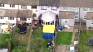 More details emerge about suspects AIR VIEW / AERIAL Cavendish Road house during raid with tent in garden