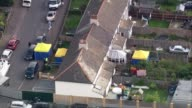 More details emerge about suspects Surrey SunburyonThames Police tents in front and back garden of house raided by police AIR VIEW Police tent in...