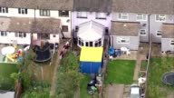 Police make two further arrests LIB / TX Surrey SunburyonThames Cavendish Road house during raid with tent in garden