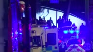 Political reaction / Increase in armed police in London T04061703 London London Bridge EXT / NIGHT Police and other emergency service outside London...