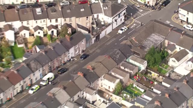 Three more arrests made in Newport Aerials WALES Newport Various of scene of arrest of men in connection with the terrorist attack at Parsons Green...