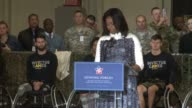Part 1 of speech by Michelle Obama Prince Harry visits Fort Belvoir Virginia to launch the American edition of the Invictus games for wounded...