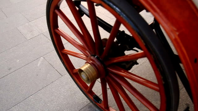 Part of carriage wheel