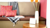 Partial of sofa in modern Living room/ interior design & renovation conceptual