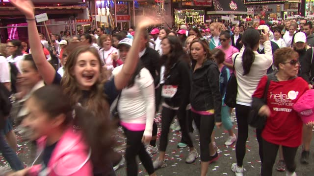 participants at 15th Annual EIF Revlon Run/Walk For Women at Times Square on May 05 2012 in New York New York