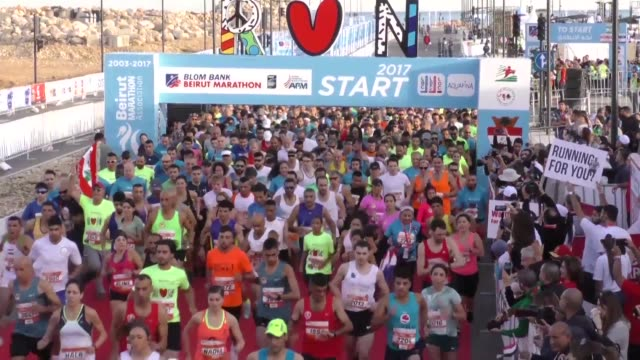 Participants in Beirut's annual marathon usually run to support medical research or human rights