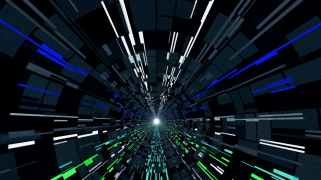 'Particle accelerator, abstract animation'