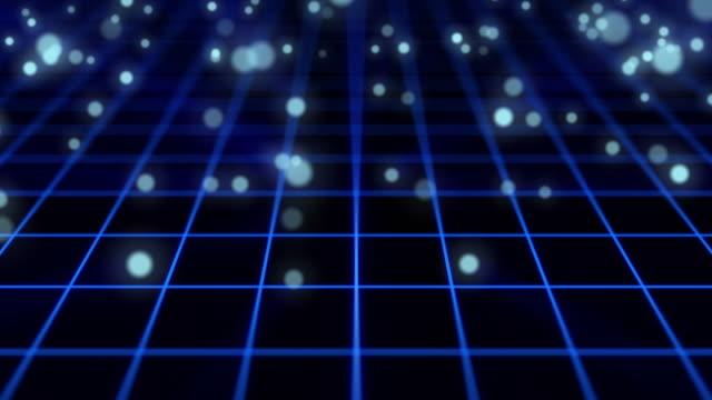 particle bounce motion,blue color