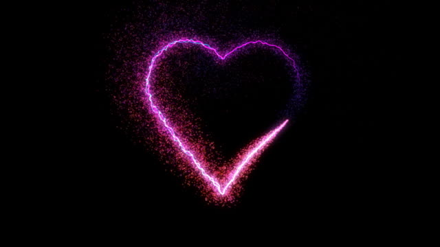 Particle Heart, HD Element with Alpha Channel