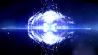 Particles splash
