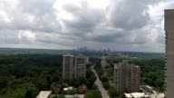 Partly Cloudy Peachtree Street downtown Atlanta