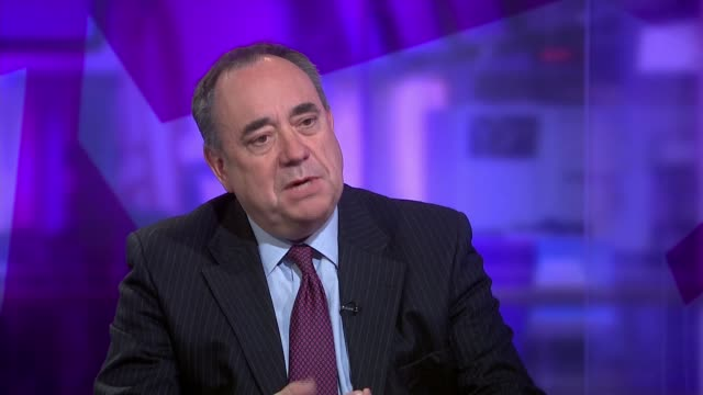 Alex Salmond interview ENGLAND London GIR INT Alex Salmond MP LIVE studio interview SOT