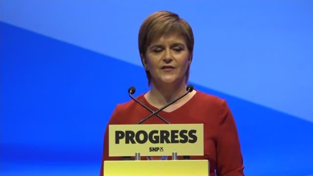 Nicola Sturgeon keynote speech Nicola Sturgeon MSP speech SOT We will not allow a Tory government to undermine devolution hands off Scotland's...