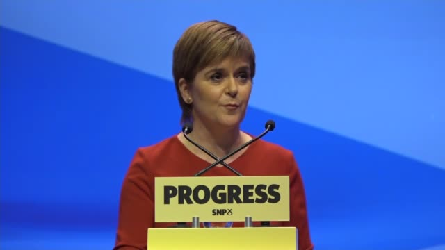 Nicola Sturgeon keynote speech Nicola Sturgeon MSP speech SOT On infrastructure Built queens ferry crossing Progress good for Scotland Last week May...